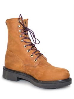 Men's Justin Cargo Brown Laceup Boots