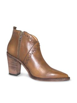 Ladies Lucchese Mocha Stitch Booties