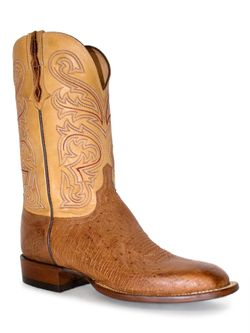 Men's Lucchese Barnwood Smooth Ostrich