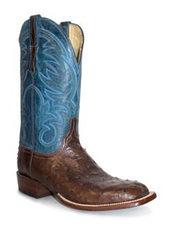 Mens Lucchese Heritage Full Quill Ostrich