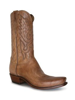 Men's Lucchese Tan Maddog Goat