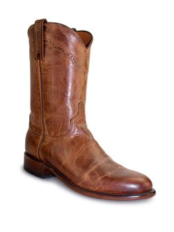 Mens Lucchese Tan Lucchese Mad Dog Goat Ropers