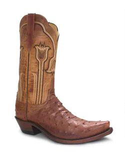 Ladies Lucchese Full Quill Redwood Goat
