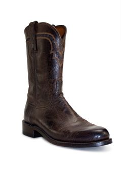 Men's Lucchese Chocolate Mad Dog Goat Roper