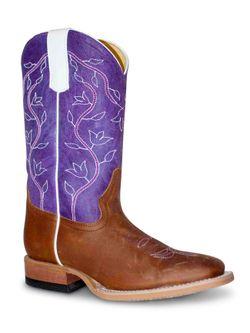 Kids Macie Bean Purple Top Boots