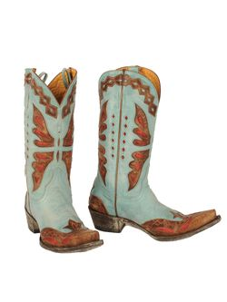 Ladies Old Gringo Aqua Monarca Boots