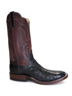 Men's Rios Of Mercedes Black Ostrich