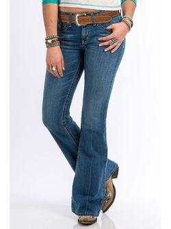 Ladies Cruel Girl Hannah Medium Stone Jeans
