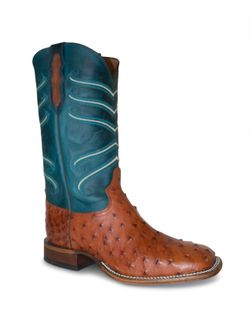 Men's Tony Lama Topaz Top Brandy Full Quill Ostrich