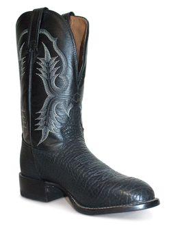 Tony Lama Black Bullhide Boots