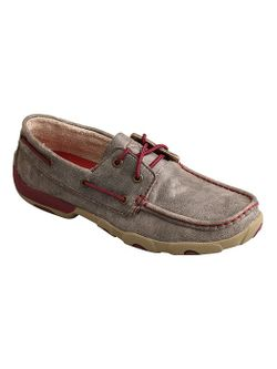 Ladies Twisted X Womens Driving Moc Grey Berry