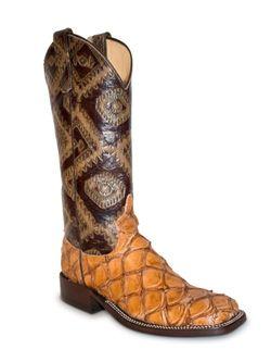 Anderson Bean Womens Rum Brown Big Bass Boots