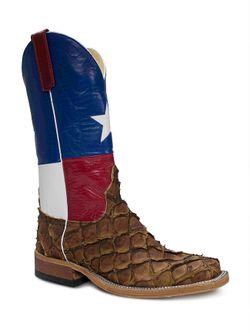 Anderson Bean Rustic Texas Flag Cigar Matte Big Bass Boots