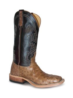 Men's Anderson Bean Rum Brown Glazed Ostrich