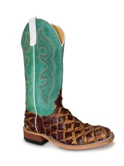 Men's Anderson Bean Mint Top Rusty Barn Big Bass Cowboy Boots