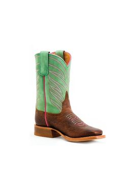 Kids Anderson Bean Green Top Boot