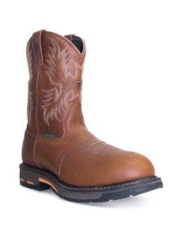 Mens Ariat Workhog Waterproof Safety Toe  Work Boots