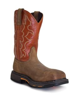Mens Ariat Wide Square Toe Steel Toe Work Boots