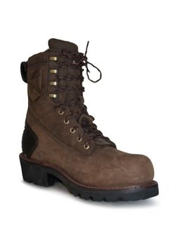 """Mens Ariat 8"""" Powerline H2) Composite Toe Lace Up Work Boots"""