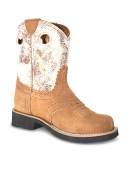 Kids Ariat Youth Fatbaby Cowgirl Dark Brown Boots