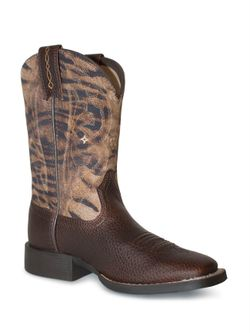 Kids Ariat Youth Quickdraw Brown Boots