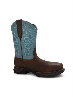 Ladies Ariat Anthem Latigo Brown Work Boots