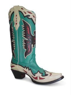 Ladies Corral Taos Turquoise Eagle Overlay