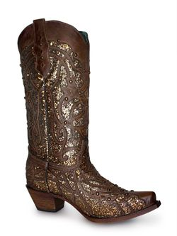 Ladies Corral Orix Glitter Inlay