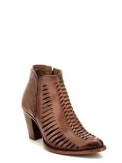 Ladies Cuadra Taupe Bronze Ankle Boot