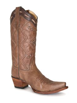 Ladies Corral Brown Embroidered Boot