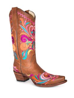 Corral Multi Color Embroidered Boots