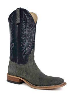 Anderson Bean Gray Safari Giraffe Square Toe Cowboy Boots