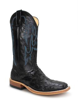 Anderson Bean Black Full Quill Ostrich