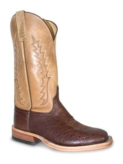 Men's Anderson Bean Smooth Tan Ostrich Cowboy Boots