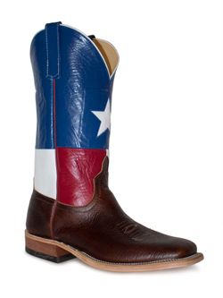 Anderson Bean Lone Star Bison Texas Flag Boots