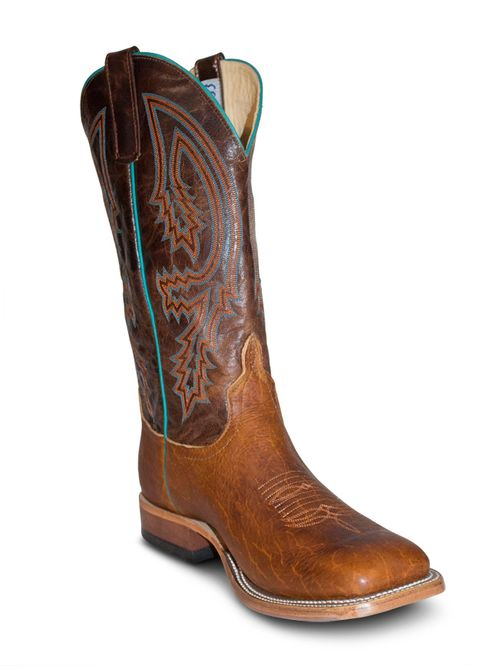 Tobacco Yeti Wide Square Toe Antelope Boots