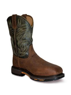 Mens Ariat Workhog Wide Square Toe Steel Toe Work Boots