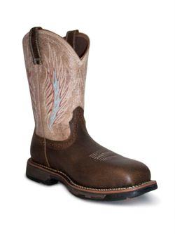 Mens Ariat Rustic Stone Mesteno Composite Toe Work Boots