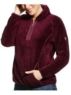 Ladies Ariat Grape Wine Dulcet 1/4 Zip Jacket