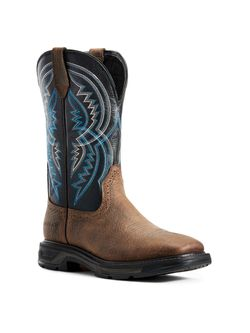 Men's Ariat Workhog Soft Toe Coil Earth Twilight Boots