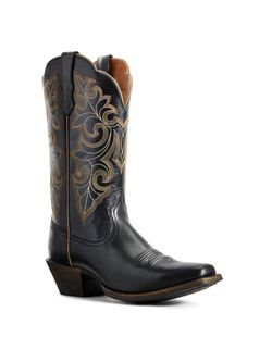 Ladies Ariat Black Round Up Square Toe
