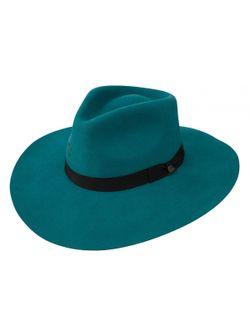Ladies Charlie One Horse Highway Teal Wool Hat