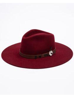 Ladies Charlie One Horse Tee Pee Burgundy Wool Hat