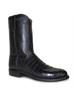 Men's Lucchese Black Caiman Tail Roper