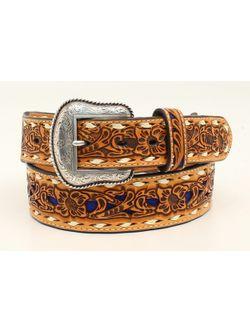 Men's Tapered Floral Embroidered Belt