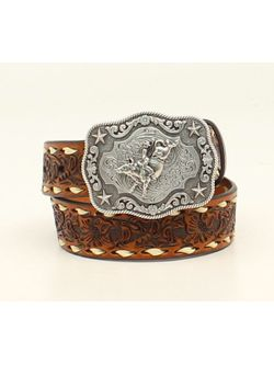 Cowboy Up Tooled Floral Belt