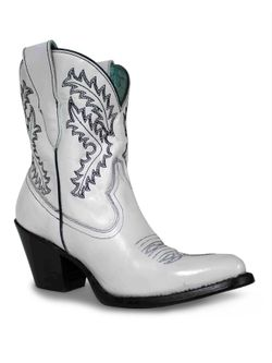 Ladies Corral White Embroidered Bootie