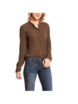 Ladies Ariat Wellton Snap Banyan Bark Long Sleeve Shirt