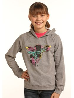 Girls Panhandle Slim Cow Pullover Hoodie