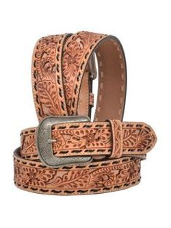 Men's 3D Belts Light Tooled Belt